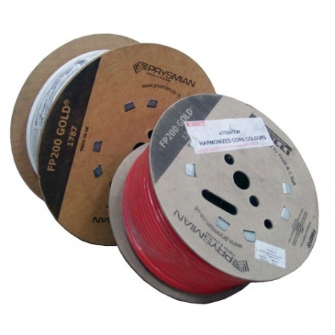 Prysmian FP200 Gold 2C+E 1.5mm White Fire Resistant Cable