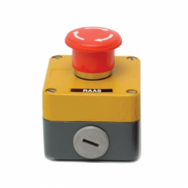 Metal Boxed Emergency Stop IP65 Twist Release + 1 N/C
