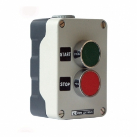 2 Pos Metal Control Station IP65 Green/Red + 1N/O+1NC