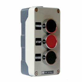 3 Pos Metal Control Station IP65 Green/Red/Green 2N/O+1N/C