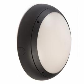 Ansell Vision 3 20w LED IP65 Graphite Emerg Bulkhead & MW Sensor